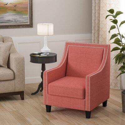 Aubine Armchair Upholstery: Coral
