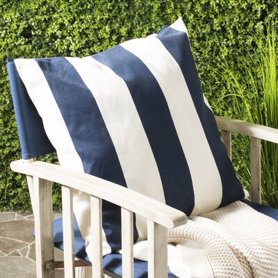 Trimaran Linen Throw Pillow Size: 18 H x 18 W, Color: Navy / Blue