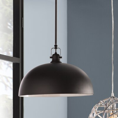 State Line 1-Light Bowl Pendant Finish: Oil Rubbed Bronze, Size: 62.5 H x 16 W x 14.25 D