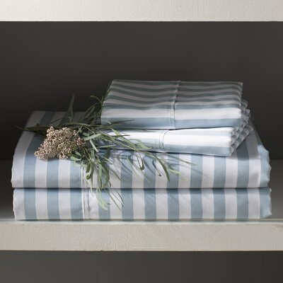 Ariel 600 Thread Count Sateen Sheet Set Size: Full, Color: Light Blue