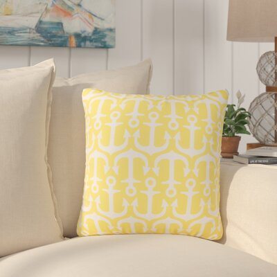 Sweetwood Traditional Anchor Outdoor Throw Pillow Size: 18 H x 18 W x 4 D, Color: Sunflower