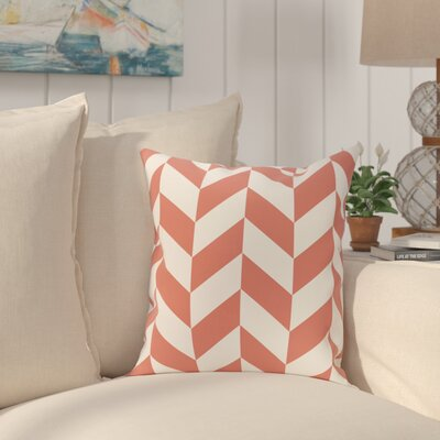 Kipling Geometric Print Outdoor Throw Pillow Color: Seed, Size: 18 H x 18 W x 1 D