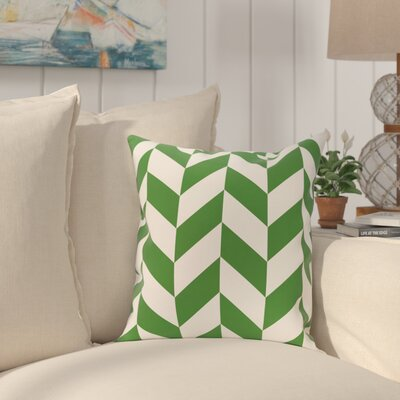 Kipling Geometric Print Outdoor Throw Pillow Color: Leaf, Size: 18 H x 18 W x 1 D