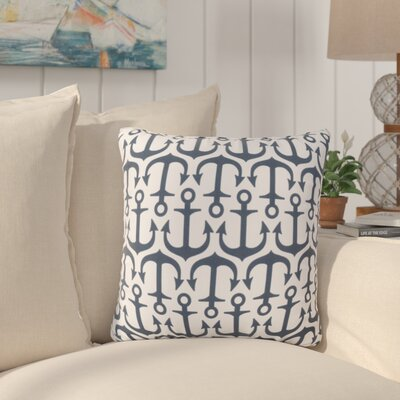 Sweetwood Traditional Anchor Outdoor Throw Pillow Size: 26 H x 26 W x 4 D, Color: Navy