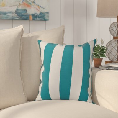 Ivy Decorative Polyester Throw Pillow Size: 18 H x 18 W, Color: Lake Blue