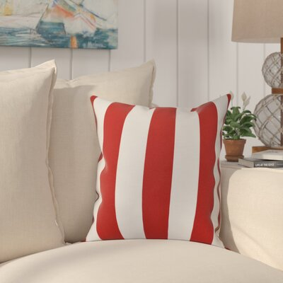 Ivy Decorative Polyester Throw Pillow Size: 18 H x 18 W, Color: Red