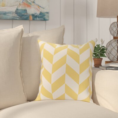 Kipling Geometric Print Outdoor Throw Pillow Color: Lemon, Size: 18 H x 18 W x 1 D