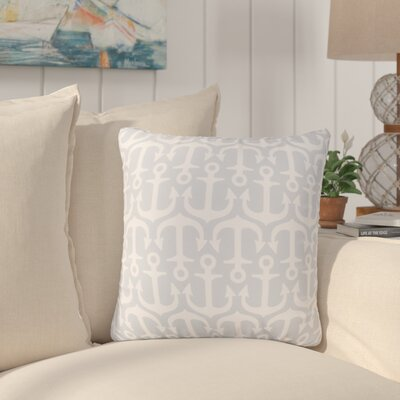 Sweetwood Traditional Anchor Outdoor Throw Pillow Size: 20 H x 20 W x 4 D, Color: Light Gray