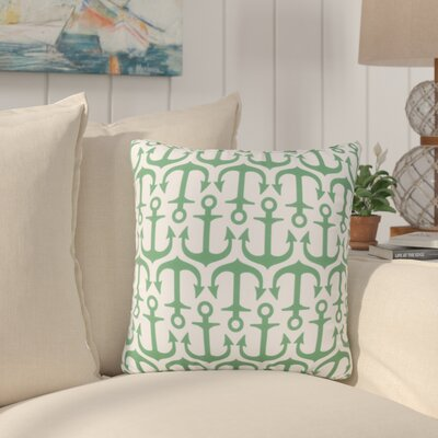 Sweetwood Traditional Anchor Outdoor Throw Pillow Size: 18 H x 18 W x 4 D, Color: Kelly Green