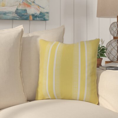 Mundell Throw Pillow Size: 16 H x 16 W x 3 D, Color: Yellow