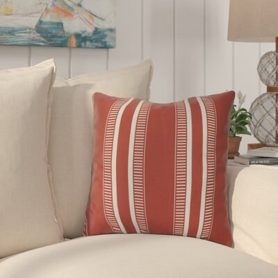 Lindale Throw Pillow Color: Orange, Size: 16 H x 16 W x 3 D