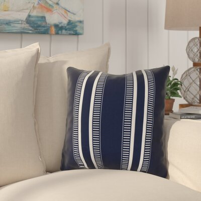 Mundell Throw Pillow Size: 16 H x 16 W x 3 D, Color: Navy Blue
