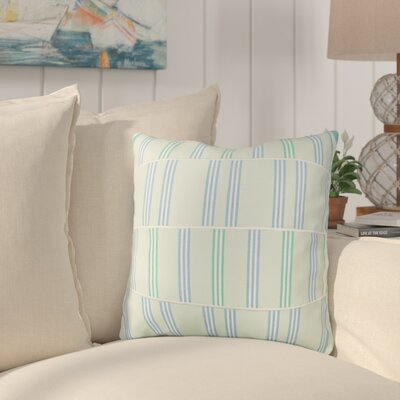 Atwell Cotton Throw Pillow Size: 18 H x 18 W x 4 D, Color: Mint / White / Sky Blue / Emerald