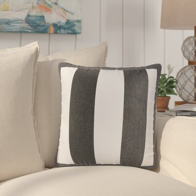 Bridgewood Outdoor Sunbrella Throw Pillow Color: Black/White