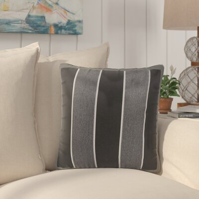Bridgewood Indoor/Outdoor Sunbrella Throw Pillow Color: Black/Gray