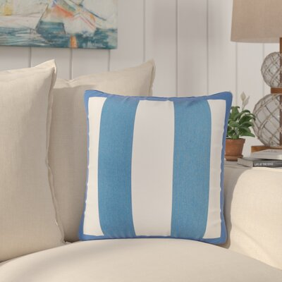 Bridgewood Outdoor Sunbrella Throw Pillow Color: Blue/White