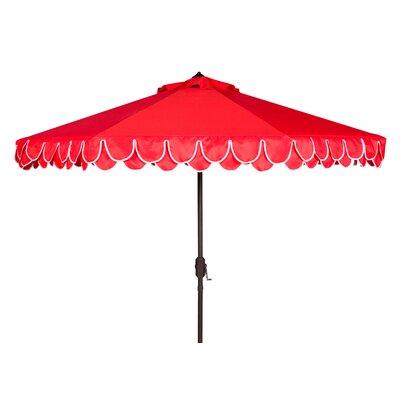 9 Drape Umbrella Fabric: Red/White