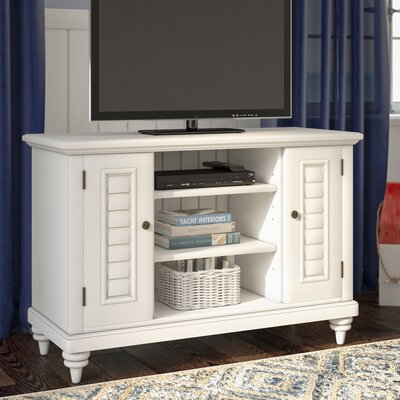 Harrison 44 TV Stand Color: White