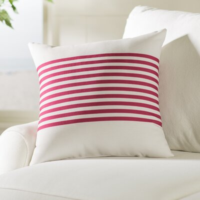 Pea Ridge Throw Pillow Size: 18 H x 18 W, Color: Ivory / Burgundy