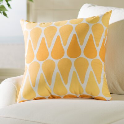 Bartow Watermelon Seeds Throw Pillow Color: Yellow, Size: 18 H x 18 W x 3 D