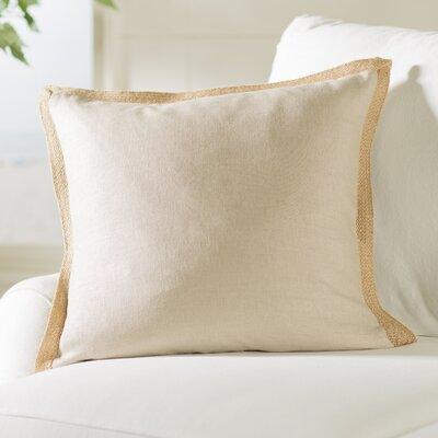 Spencer Linen Throw Pillow Color: Beige