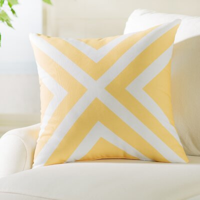 Greater Northdale Outdoor Throw Pillow Color: Lemon, Size: 20 H x 20 W x 1 D