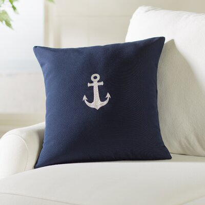 Hereford Outdoor Throw Pillow Size: 18 H x 18 W, Color: Navy