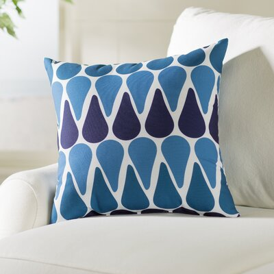 Bartow Watermelon Seeds Throw Pillow Size: 16 H x 16 W x 3 D, Color: Navy Blue