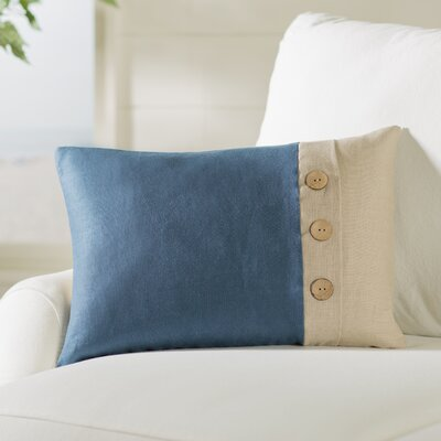 Averill Oblong Linen Lumbar Pillow Color: Navy