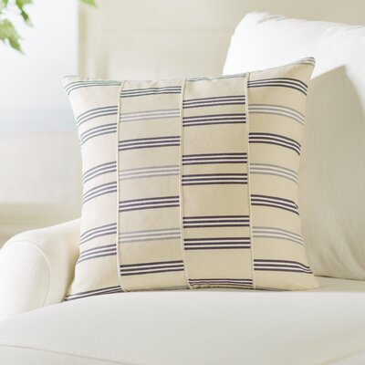 Lina Cotton Throw Pillow Size: 20 H x 20 W x 4 D, Color: Beige / Charcoal / White / Gray