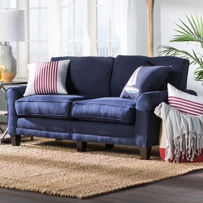 Buxton 73 Rolled Arm Sofa Upholstery: Navy