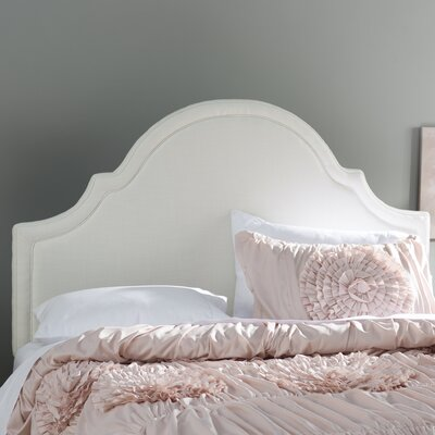 Calvert Upholstered Panel Headboard Size: Queen, Upholstery: Off-White