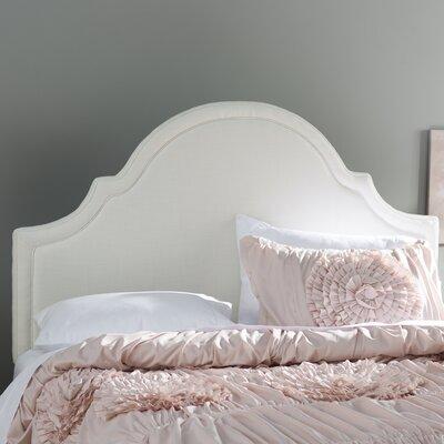 Calvert Upholstered Panel Headboard Size: Queen, Upholstery: Off-White