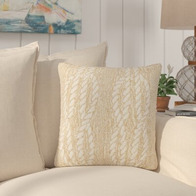 Lowes Ropes Indoor/Outdoor Throw Pillow Color: Natural
