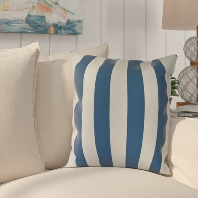 Westfield Stripe Throw Pillow Size: 16 H x 16 W, Color: Teal