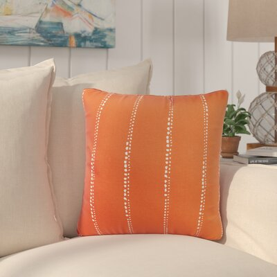 Balentine Dot Striped Indoor/ Outdoor Throw Pillow Size: 18 H x 18 W x 6 D, Color: Orange