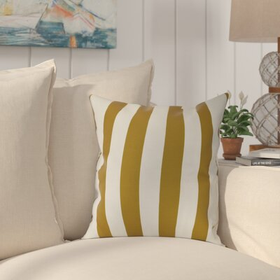 Westfield Stripe Outdoor Throw Pillow Size: 18 H x 18 W, Color: Yellow
