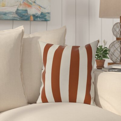 Westfield Stripe Outdoor Throw Pillow Size: 20 H x 20 W, Color: Orange