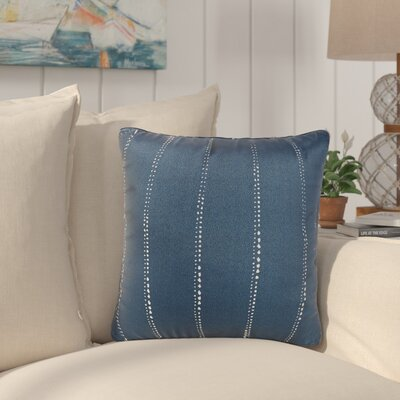 Balentine Dot Striped Indoor/ Outdoor Throw Pillow Size: 22 H x 22 W x 6 D, Color: Navy