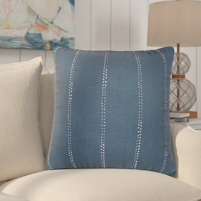 Balentine 22 Square Indoor/Outdoor Throw Pillow Color: Navy