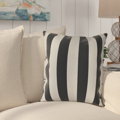 Westfield Stripe Throw Pillow Size: 18 H x 18 W, Color: Black