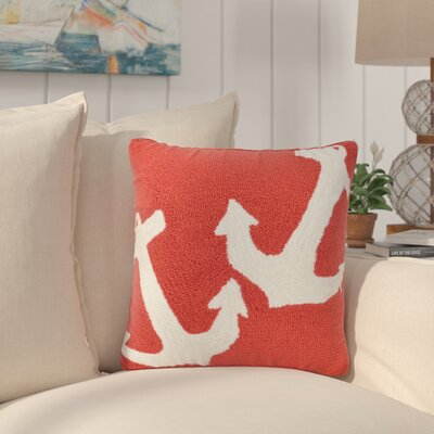 Valencia Anchor Indoor/Outdoor Throw Pillow Color: Red