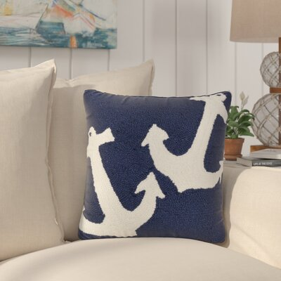 Valencia Anchor Indoor/Outdoor Throw Pillow Color: Blue
