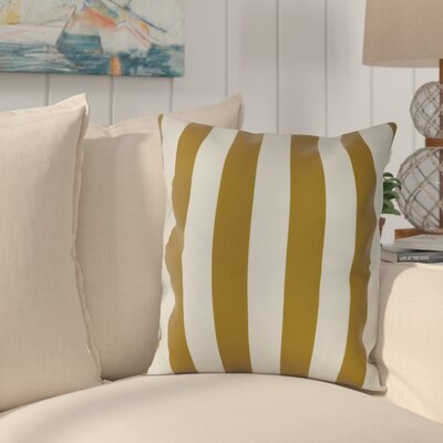 Westfield Stripe Throw Pillow Color: Yellow, Size: 18 H x 18 W