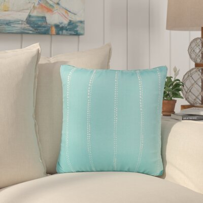 Balentine Dot Striped Indoor/ Outdoor Throw Pillow Size: 22 H x 22 W x 6 D, Color: Aqua
