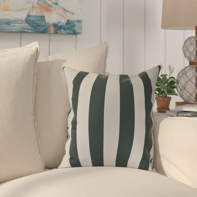 Westfield Stripe Outdoor Throw Pillow Size: 16 H x 16 W, Color: Green
