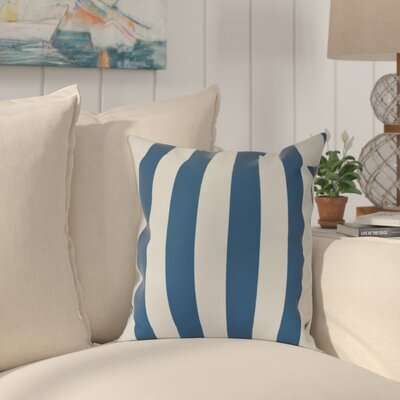 Westfield Stripe Outdoor Throw Pillow Color: Teal, Size: 18 H x 18 W