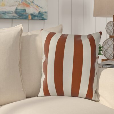 Westfield Stripe Throw Pillow Color: Orange, Size: 16 H x 16 W