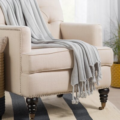 Harrisville Throw Blanket Color: Grey