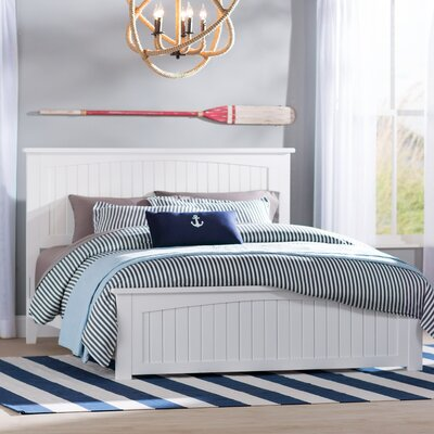 Graham Panel Bed Size: Twin XL, Finish: White